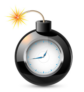 clock with burning fuse © Dvargfoto | Dreamstime.com